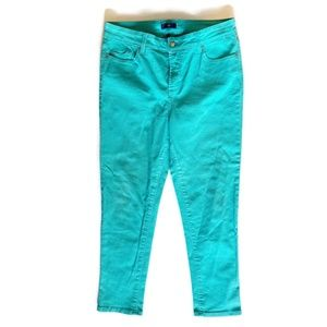 Not Your Daughter's Turquoise Skinny Ankle Jeans